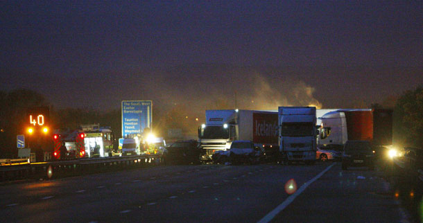 Mulit-Vehclie Collision on The M5 November 2011